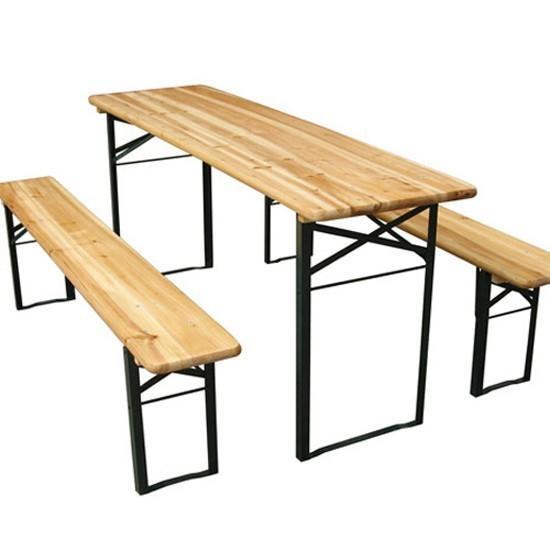 Tables et 2 bancs sur 0.60m*1.80m