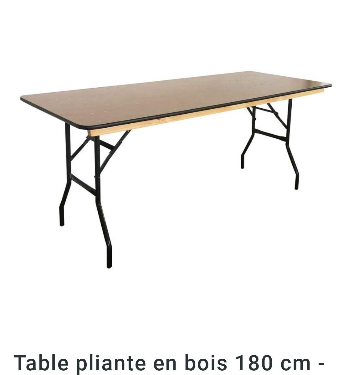 Table rectangle bois 180* 76cm 8 personnes pro