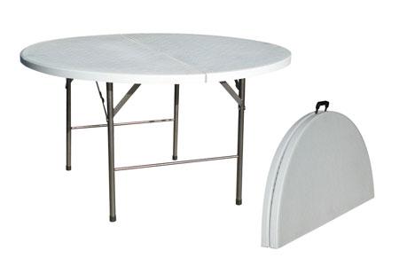 table-ronde-pliante 1.50 m de diamètre pour 8 personnes